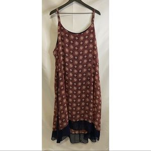Lane Bryant Patterned High Low Sundress 26/28